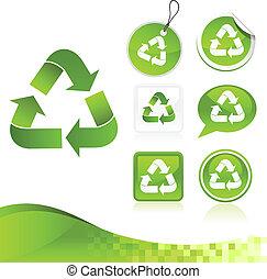Grüner Recycling-Ausrüstungskasten