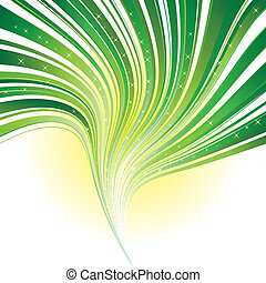 Grüner Streifen mit Sternen abbrechen