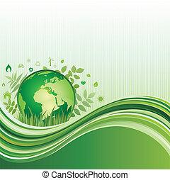Grüner Umwelt Hintergrund