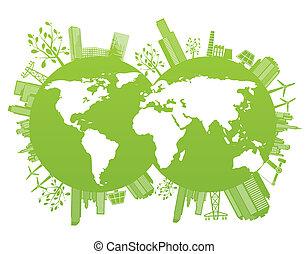 Grüner und Umweltplaneten