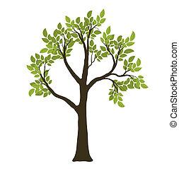 Grüner Vektorbaum. Natursymbol