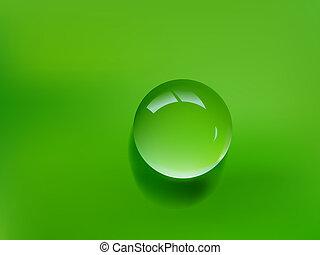Grüner Wassertropfen