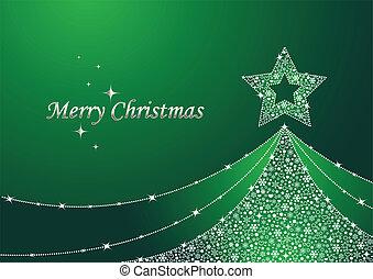 Grüner Weihnachtsbaum