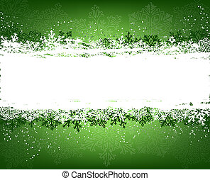 Grüner Winter Hintergrund