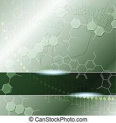 Grüner wissenschaftlicher Hintergrund
