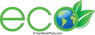 Grünes Ökologie-Logo