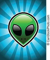 Grünes Alien