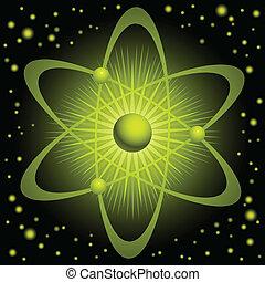 Grünes Atom.