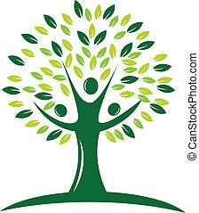 Grünes Baumlogo.