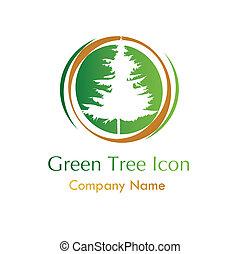 Grünes Baumsymbol.