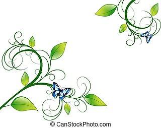 Grünes Blumenblatt.