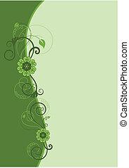 Grünes Blumengrenzdesign 2.
