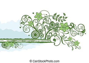 Grünes Flanell-Element