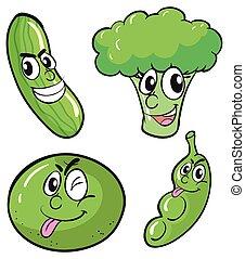 Grünes frisches Gemüse.
