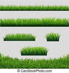 Grünes Gras grenzt großen, transparenten Hintergrund.