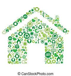 Grünes Haus-Ikone