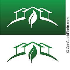 Grünes Hauskonzept ist solide und umgekehrt