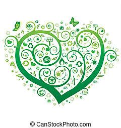 Grünes Herz.