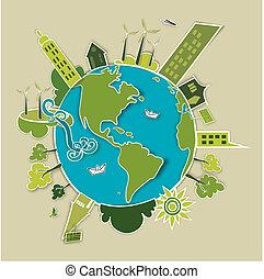 Grünes Konzept Erde