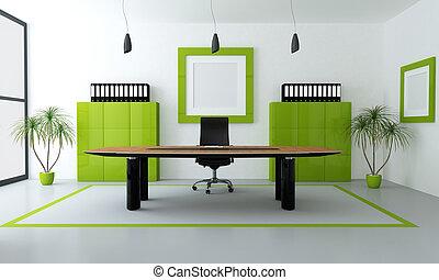 Grünes modernes Büro