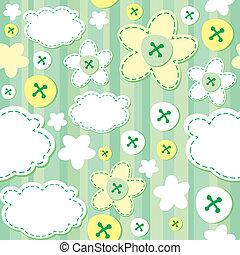 Grünes, nahtloses Muster.