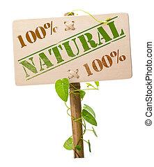 Grünes Natur- und Biozeichen