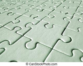 Grünes Puzzle