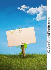 Grünes Zeichen - umweltfreundliche Kommunikation