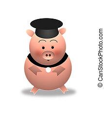 (graduation), schwein