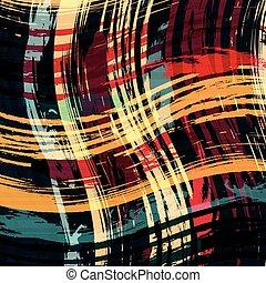 Graffiti abstrakte geometrische Objekte auf einem schwarzen Hintergrund.