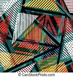 Graffiti farbige geometrische Objekte auf einem schwarzen Hintergrund.