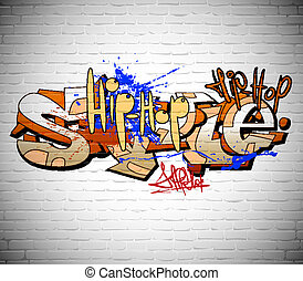 Graffiti-Hintergrund, Stadtkunst
