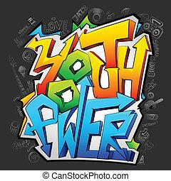 Graffiti mit Jugendkraft
