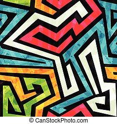 Graffiti nahtloses Muster mit grunge Effekt.