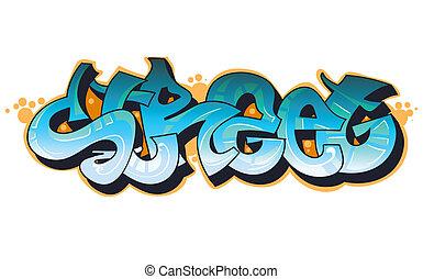 Graffiti städtische Kunst
