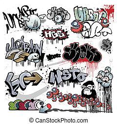 Graffiti städtische Kunstelemente