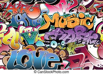 Graffiti urbaner Hintergrund nahtlos