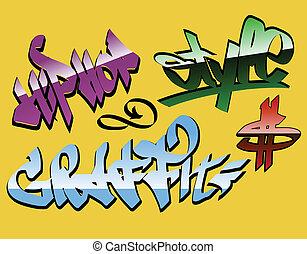 Graffiti-Wörter