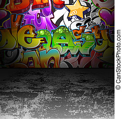 Graffiti-Wand-Straßen-Gemälde