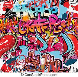 Graffiti-Wandvektor städtischer Hip Hop