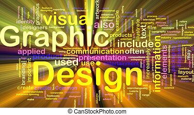 grafik, glühen, begriff, design, hintergrund