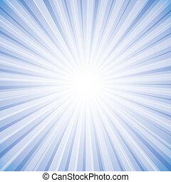 grafik, sonne, himmelsgewölbe, strahlen, hell, vektor, hintergrund, weißes