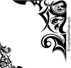 Grafische Tribal-Tattooflügel.