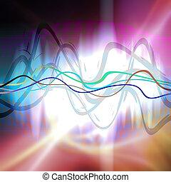 Graphische Audiowellenform