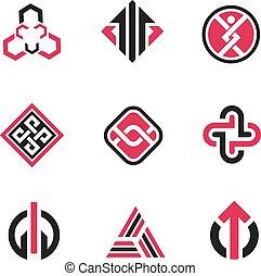 Graphische Symbole und Technologie conc.