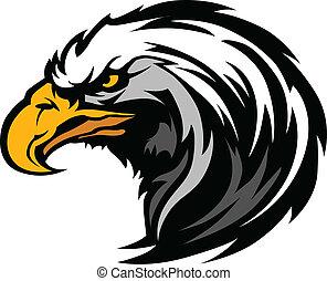 Graphischer Kopf eines Adlermaskottchens