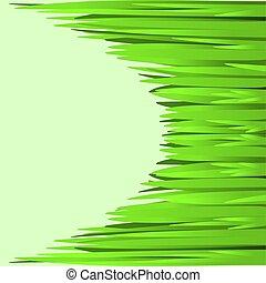 gras, grün, rahmen, 2, fruehjahr