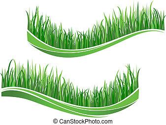 gras, grün, wellen