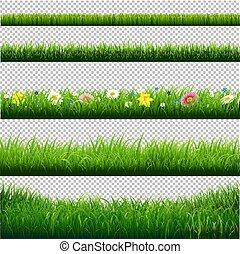 Grasgrenzen setzen transparenten Hintergrund.