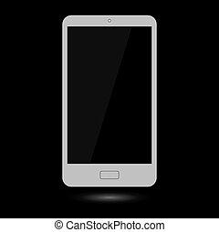 Gray Touchscreen Smartphone.